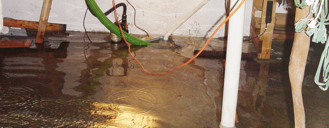 Flooded Basement | Area Waterproofing & Concrete | Wisconsin