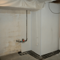 Wall Coated With DryShield | Area Waterproofing & Concrete | Wisconsin