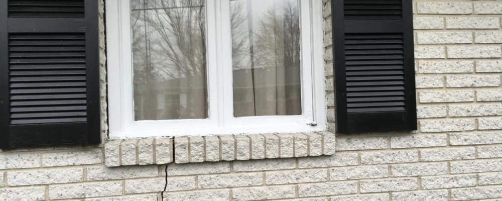 Sinking Foundation Crack in Wall | Area Waterproofing & Concrete | Wisconsin
